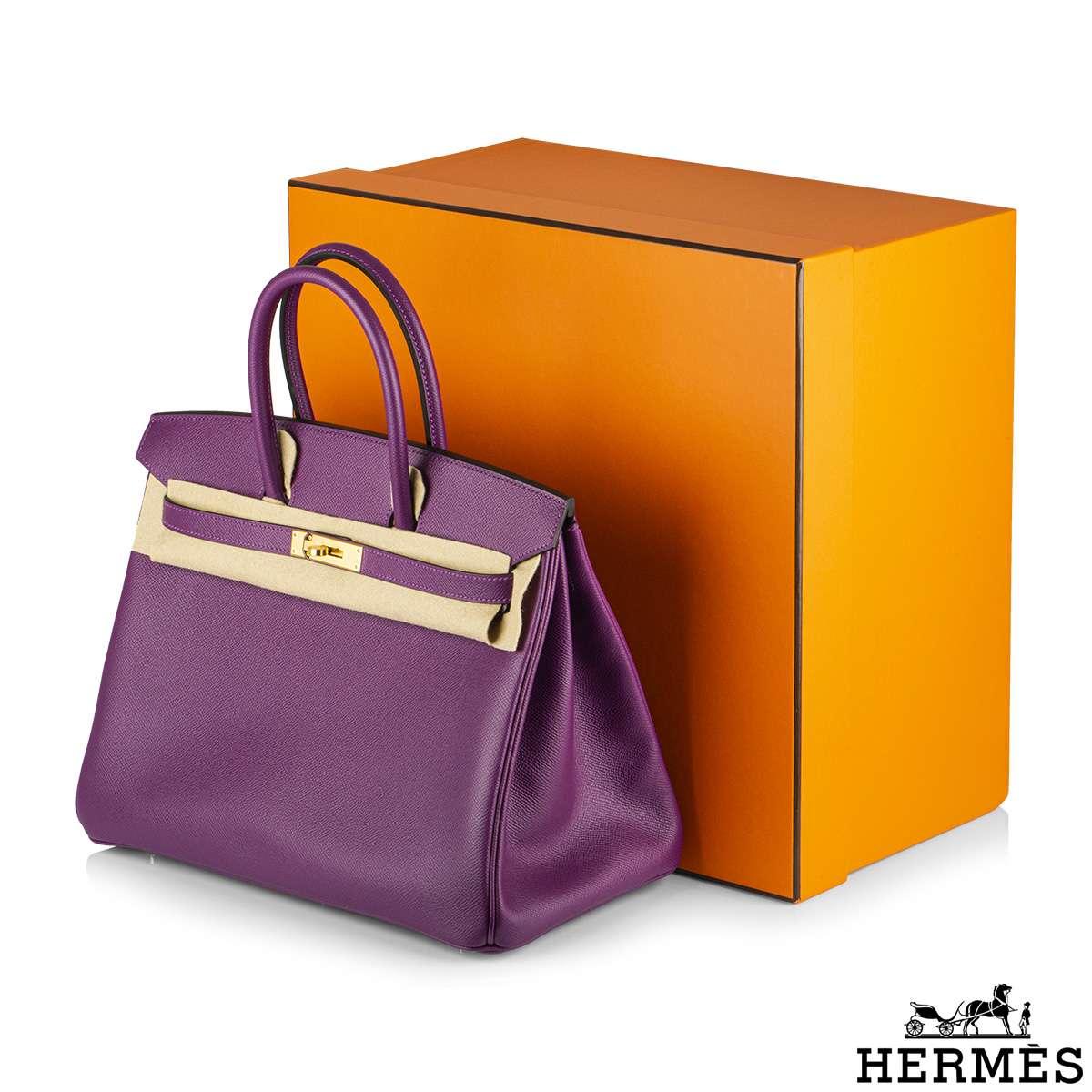 Hermès Birkin 35 Anemone Epsom GHW